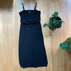 Style & Co slinky black dress with silver accent